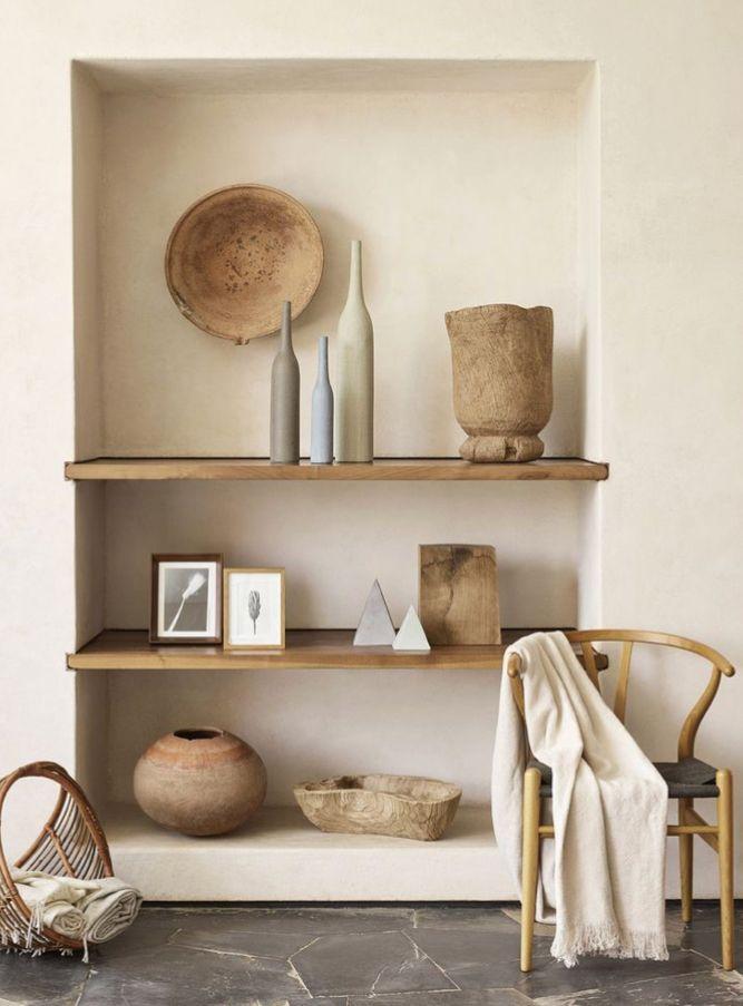 Pin by suemi nakamura on Natural | Pinterest | Interiors, Shelves ...
