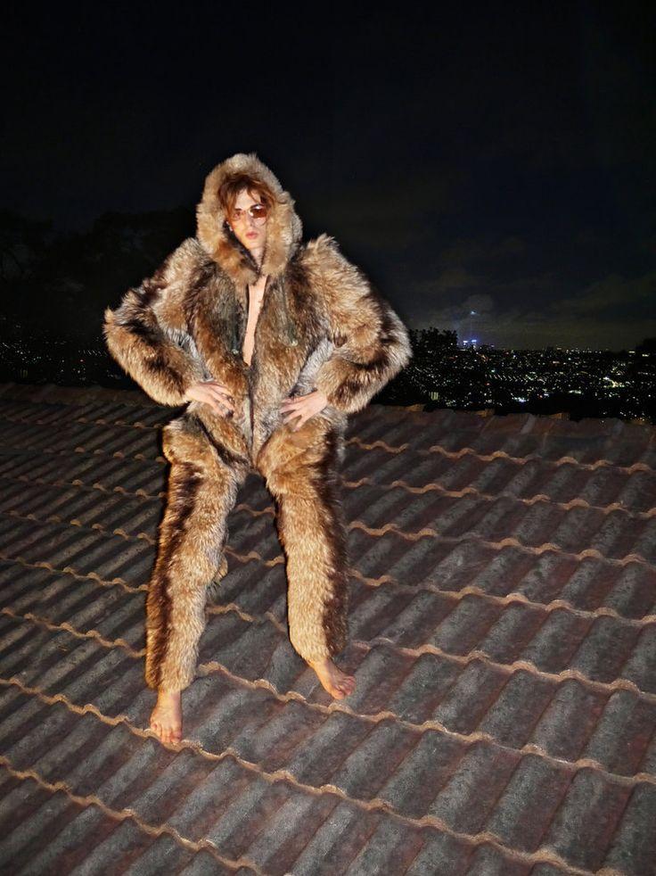 Faux Fur Catsuit
