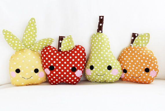 Toy Sewing Pattern  Kawaii Mini Fruit Pattern  by GandGPatterns, $6.00---- Just too cute! I gotta make play food for the kids!