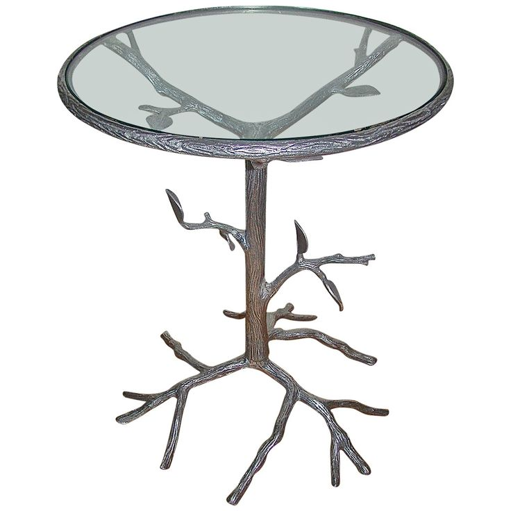 Aluminum Sculptural Mid-Century Tree Side Table | From a unique collection of antique and modern side tables at https://www.1stdibs.com/furniture/tables/side-tables/