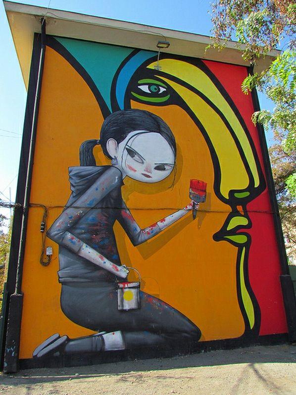 27 murales forman el Museo a Cielo Abierto de San Miguel - Santiago, Chile #Graffiti #Arte #UrbanArt