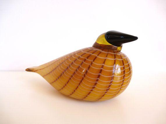 Vitntage Oiva Toikka for Nuutajärvi First Annual Art Bird Hakki Iittala Finland 1996 - $469.99 at HotCoolVintage