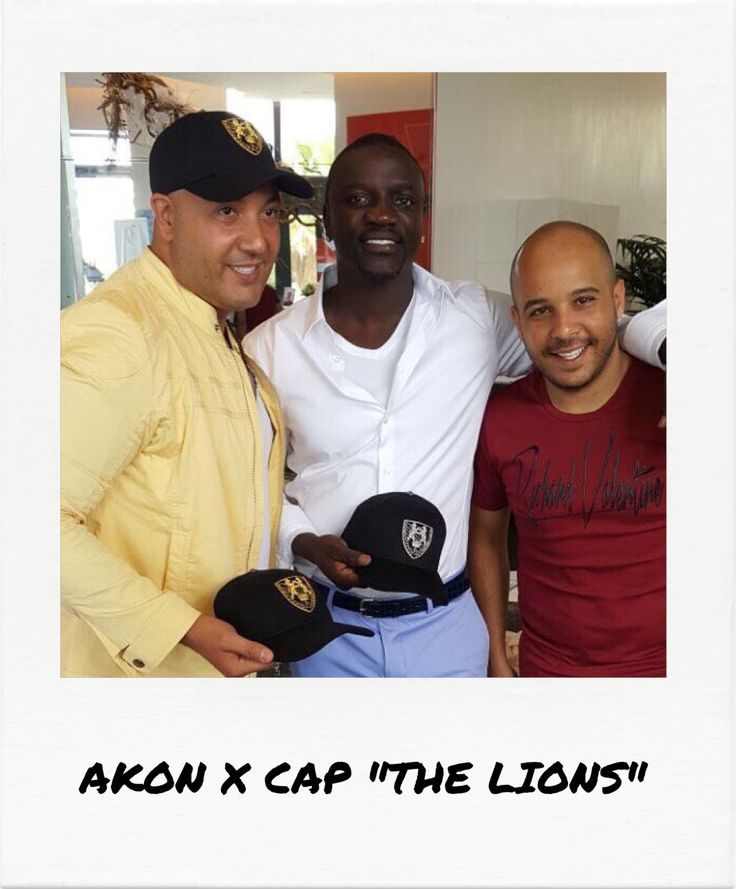 """Akon VS Richard Valentine's new cap """"The Lions"""" during the Cannes Film Festival"""