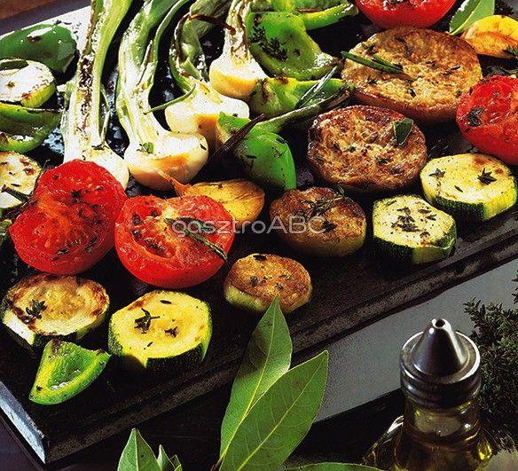 Kövön sült zöldségek