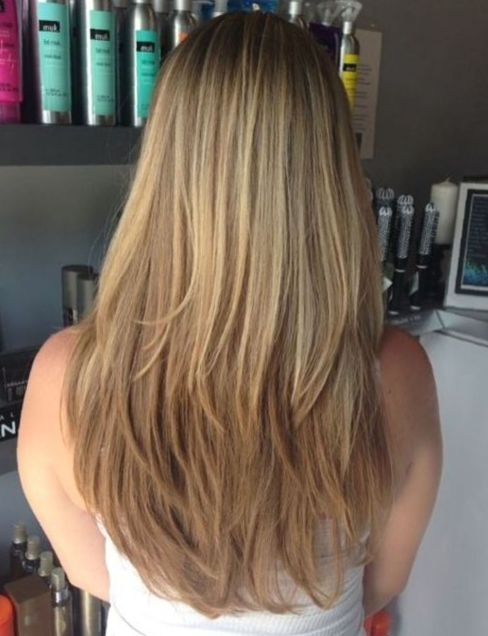 Brown blond hair with long steps