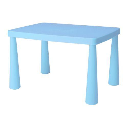 MAMMUT Barnebord IKEA Plast; holdbart og enkelt å rengjøre.