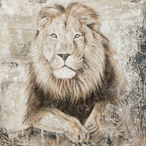 schilderij leeuw 100x100 | Schilderijenshop
