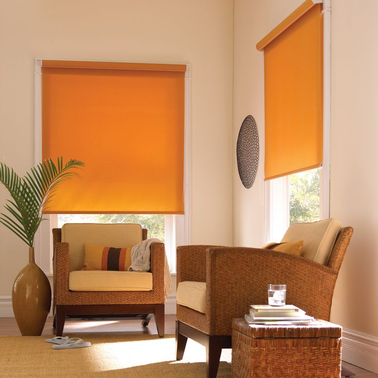 Orange Roller Blinds