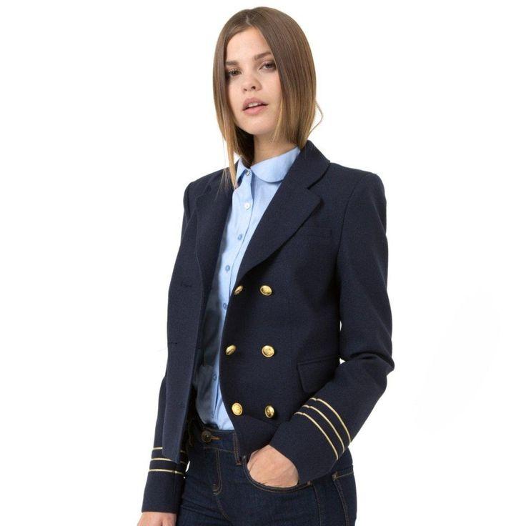 Ναυτικό μπλε μιλιτέρ σακάκι