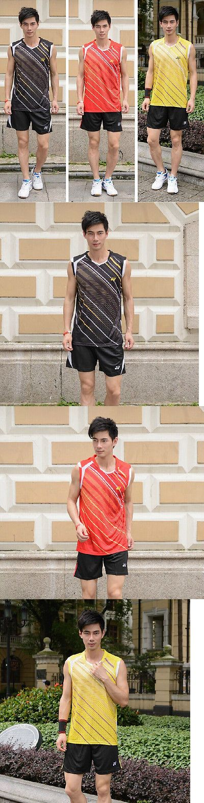 Shirts and Tops 70900: Free Shipping 2014 Mens Table Tennis Clothing/Badminton Shirt+Shorts 36103 BUY IT NOW ONLY: $33.99
