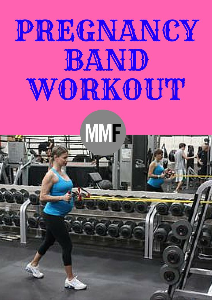 Pregnancy band workout great for doing at home.  Keep your upper body and legs toned with pregnancy workouts like this.    http://michellemariefit.com/pregnancy-band-workout/