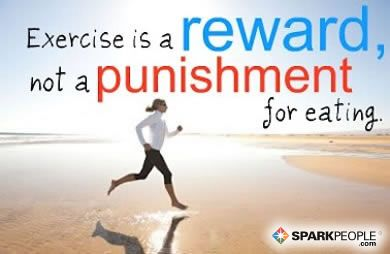 Need some Fitspiration today? Remember: Exercise is a reward!