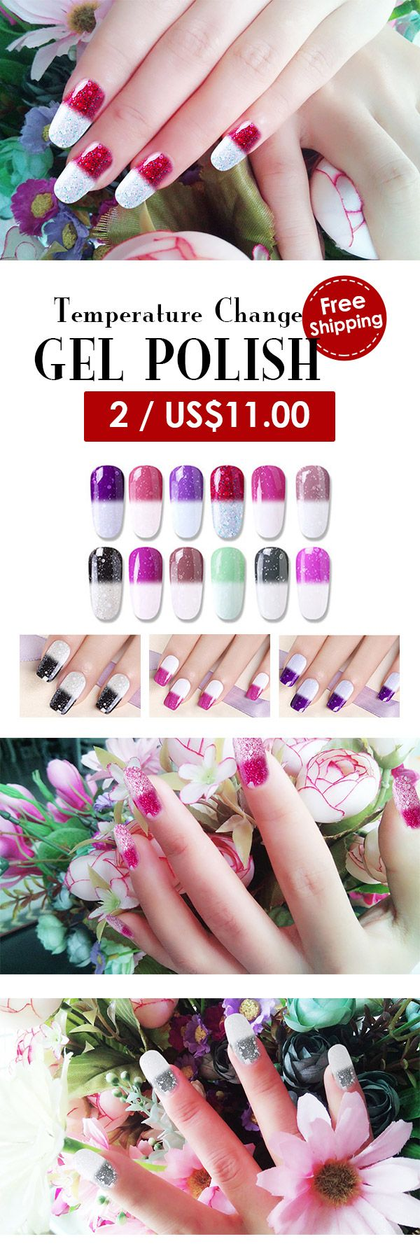 DECOUVRIR Temperature Change Color UV Gel Nail Art Mood Color Changing Polish Varnish 10ml