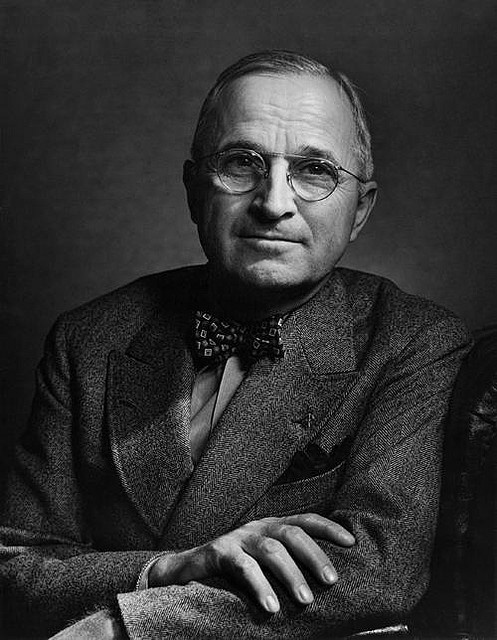 Harry S. Truman (May 8, 1884 – December 26, 1972) was the 33rd President of the United States (1945–1953). The final running mate of President Franklin D. Roosevelt in 1944, Truman succeeded to the presidency on April 12, 1945, when Roosevelt died after months of declining health. Under Truman, the U.S. successfully concluded World War II; in the aftermath of the conflict, tensions with the Soviet Union increased, marking the start of the Cold War.