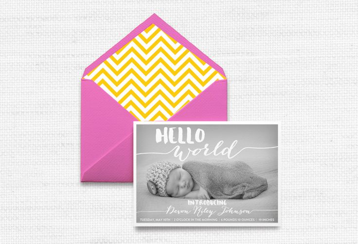 1000+ Ideas About Baby Announcement Cards On Pinterest