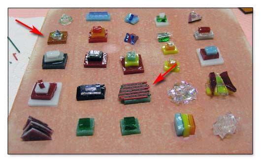 Λιωμένο γυαλί Μενταγιόν - Εστιακό Χάντρες Prefired