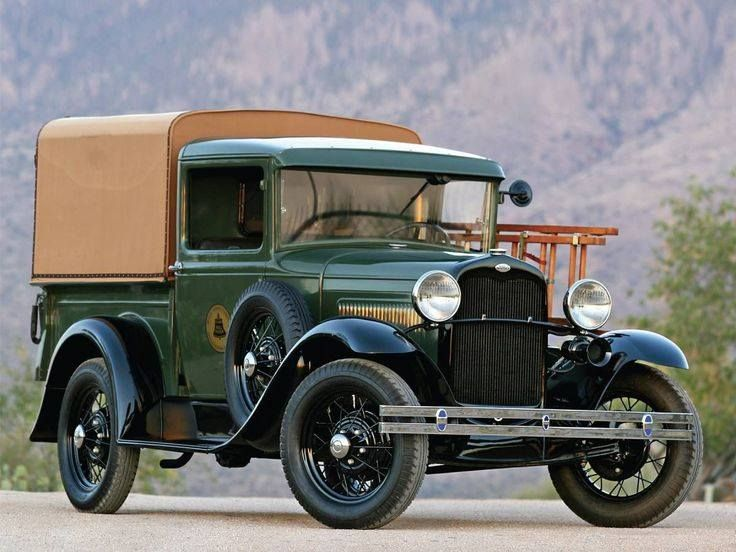 "1931 Ford Model A Pick Up. An old ""Ma Bell"" (AT&T) truck."