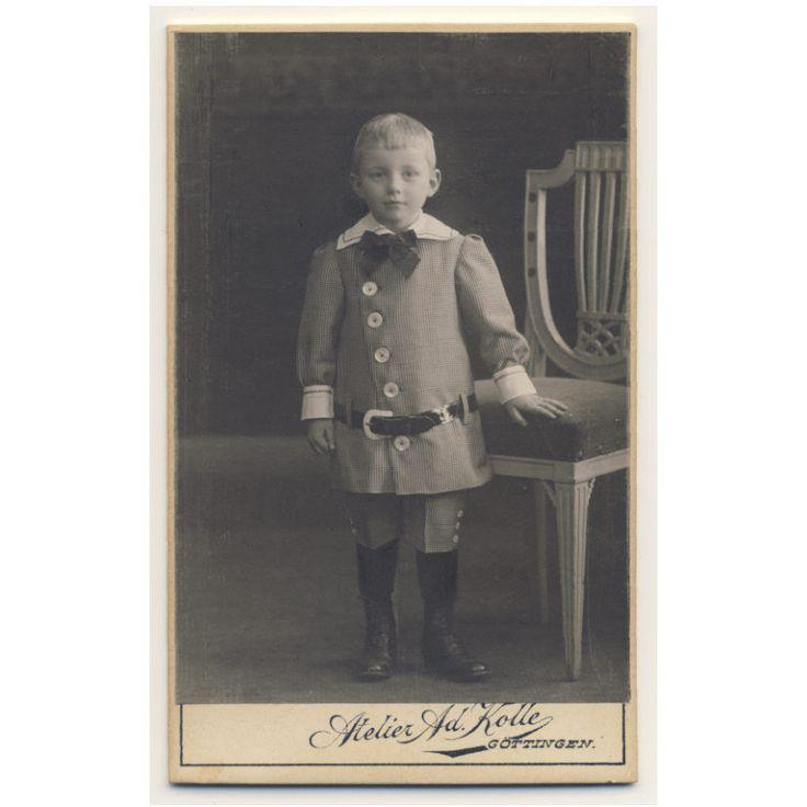 Cute Little Boy Fancy Suit CDV Photo c1905 Child Fashion | eBay