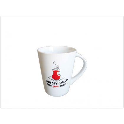 Kütahya Porselen  Her Şeyi Salla Ama Çayı Demle - Bardak