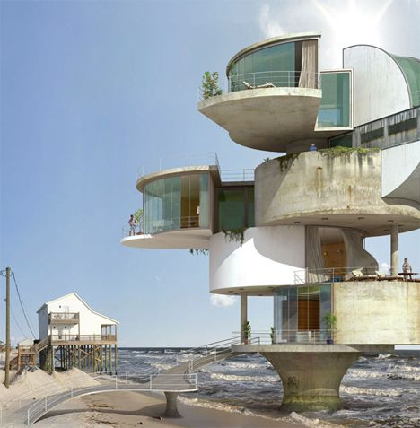 Surrealist Disaster Proof Architecture 4 - Writing inspiration #nanowrimo #scenes #settings