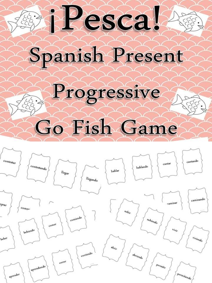 Fun way for students to practice making #present #progressive forms of verbs in Spanish! Cards work great for the game Memory, too!
