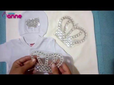 Kristal Taşlı Kral ve Kraliçe Taç Desenlerle Süsleme - YouTube
