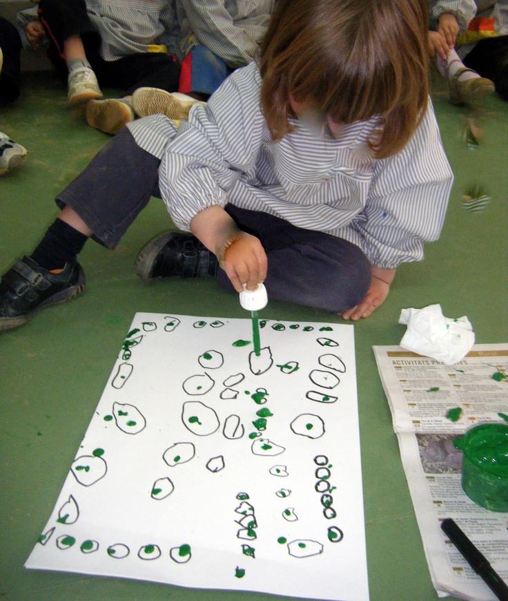 Pintem cercles amb comptagotes