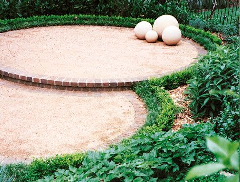Great idea to use crushed sandstone