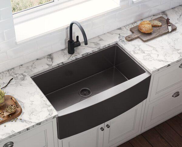 Terraza 36 L X 22 W Farmhouse Kitchen Sink Farmhouse Sink Kitchen Black Farmhouse Sink Best Kitchen Sinks