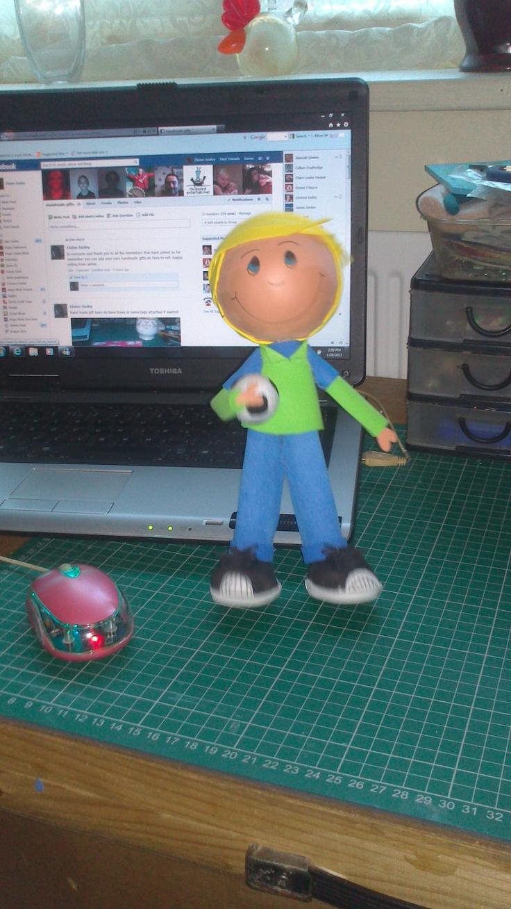 fofucha doll(foamy doll) boy with football