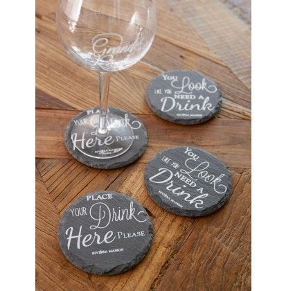 Place Your Drink Slate Coasters - Dining Room | Rivièra Maison