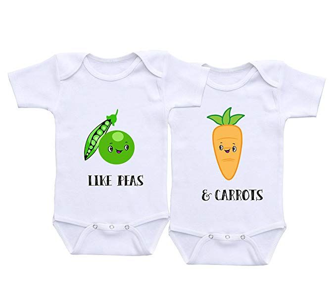 7817397a0dd QLShops Boy Girl Twins Baby Gifts Matching Boy Girl Outfits Twin Onesies  Twin Baby  Clothes Gift for Twins Onesies (18 Months)  babyclothing   babyclothes