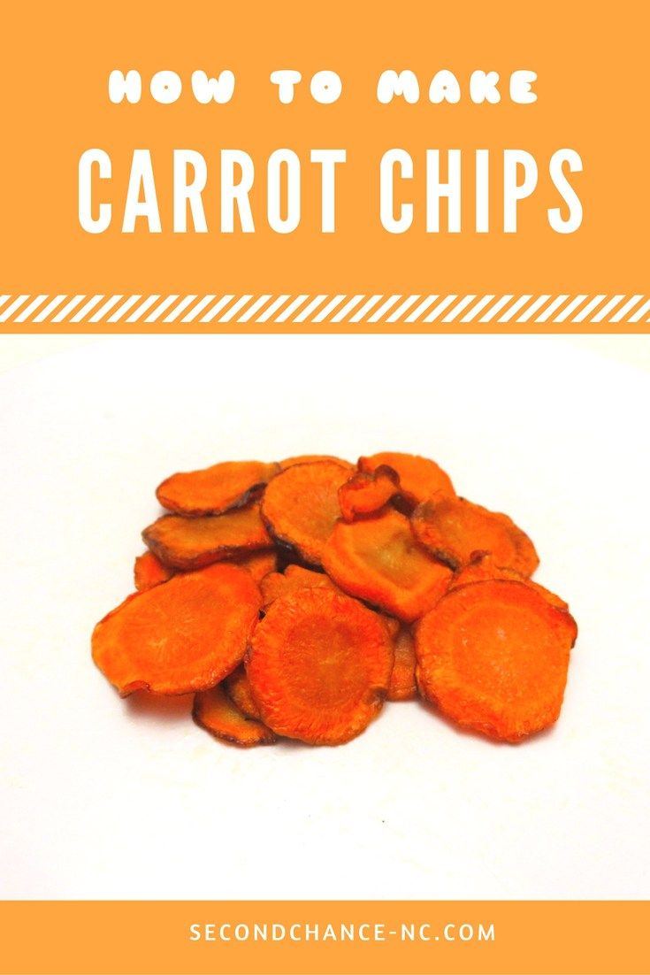 Learn how to make easy and healthy carrot chips!