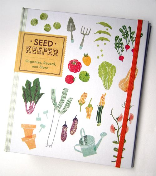 """Here is another recently published work I cant explain how excited I am!This is what I have worked on last year with brilliant people at Chronicle Books. Its called 'Seed Keeper', a smart and fun organiser for gardeners. My illustrations appear inside too, so more photos will follow at a later date. 昨年大好きな出版社 Chronicle Books と長いこと一緒に作っていた本がついに…!タイトルは Seed Keeper"""" ファイルと本が合体したような代物。中身はどうなってるのか気になるところですが、また後日!"""