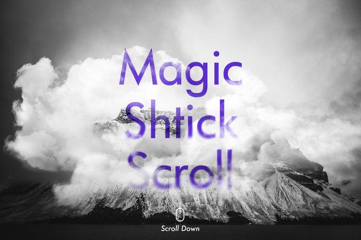 スクロールでじわーっと煙のように消えていく不思議エフェクト – MagicShtick Scroll –