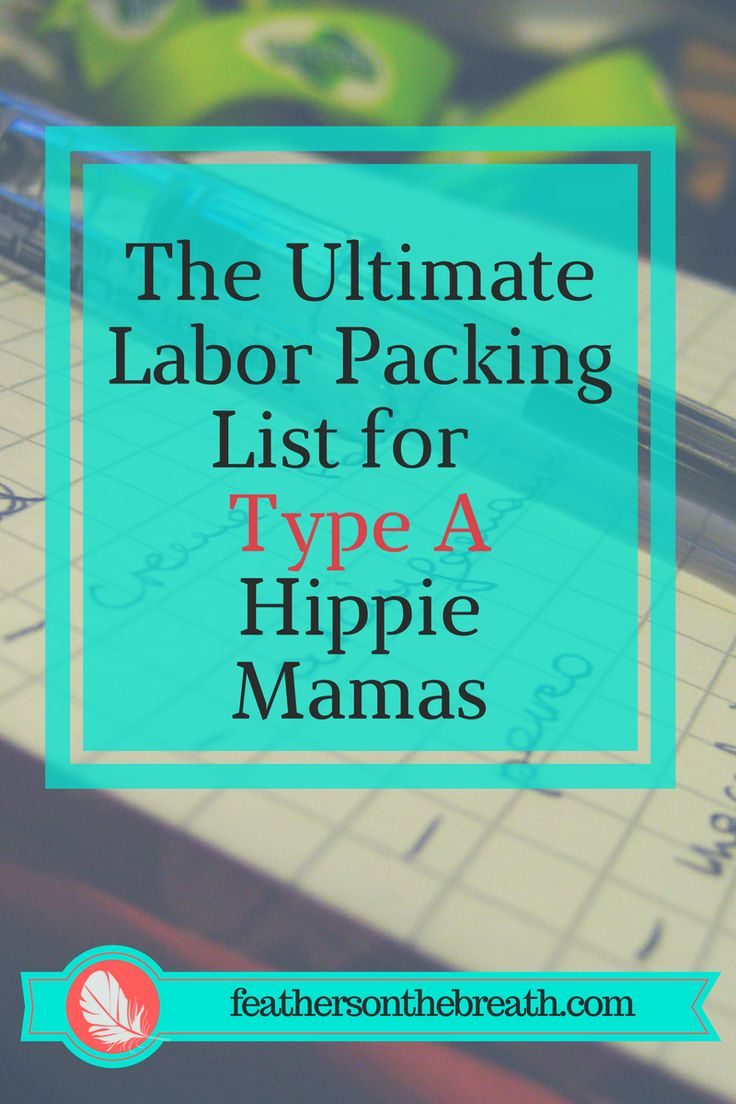 a sample packing list for to be used for a birth center or