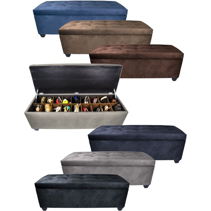 MJL Furniture The Sole Secret Obsession Espresso Wood/Metal/Foam 10-button Tufted Shoe Storage Bench (Brownstone), Brown