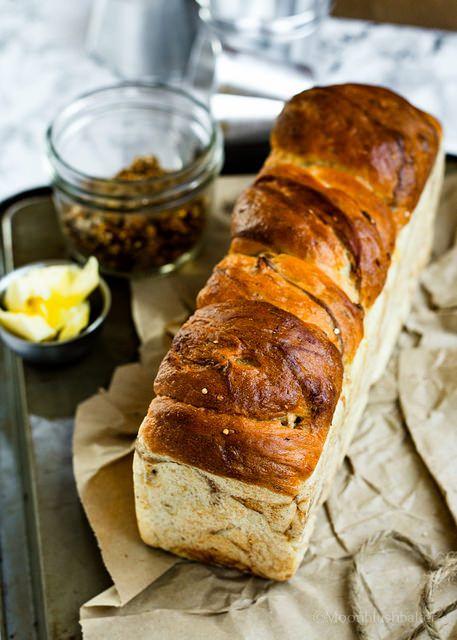 Cinnamon Swirl Banana Bread, holiday gift, food, breads