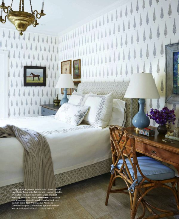 muriel Brandolini walls and fabric. Nate Turner: designer   Obsessed with the wall paper!