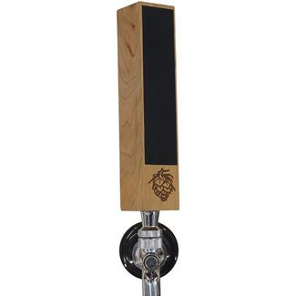 "Awofer mini Chalkboard Beer Tap Handle Display Made of Walnut Wood for Kegerator, 7"" × 1.5"" × 1.5"" ,Funny beer tap with Engraved pine nut logo $25.99"
