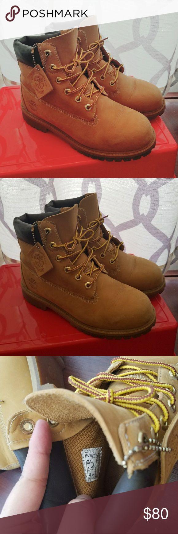 Timberland boots mens size 5 wheat Timberland boots mens size 5 wheat color. Make an offer Timberland Shoes Winter & Rain Boots