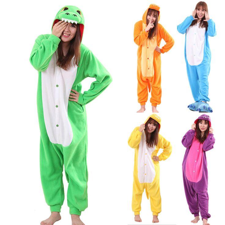 Dinosaur Kigurumi Animal Onesies costume Colorful Pajamas Halloween - Pajamasbuy