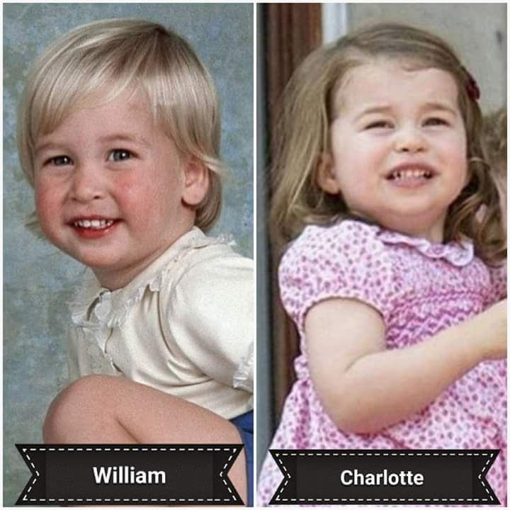 Prince William and Princess Charlotte Elizabeth Diana