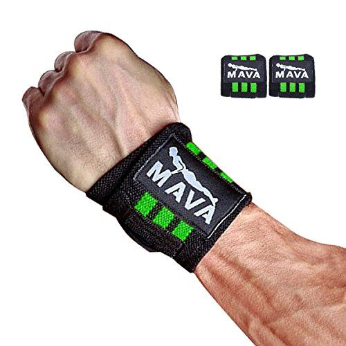 Strong Weight Lifting Wrist Straps for Wrist Pain During Lifting Workouts Exercise Gym Seet of 2 PR Wrist Wraps 14 Green * For more information, visit image link.