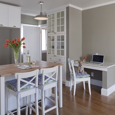 Gray horse benjamin moore paint color on the kitchen walls for the home pinterest paint - Benjamin moore paint colors for kitchen ...