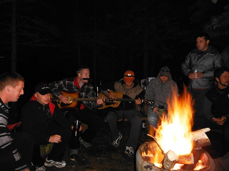 Corporate tour - Belting out some campfire tunes.