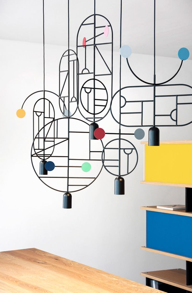 These modular lights resemble geometric ink illustrations.