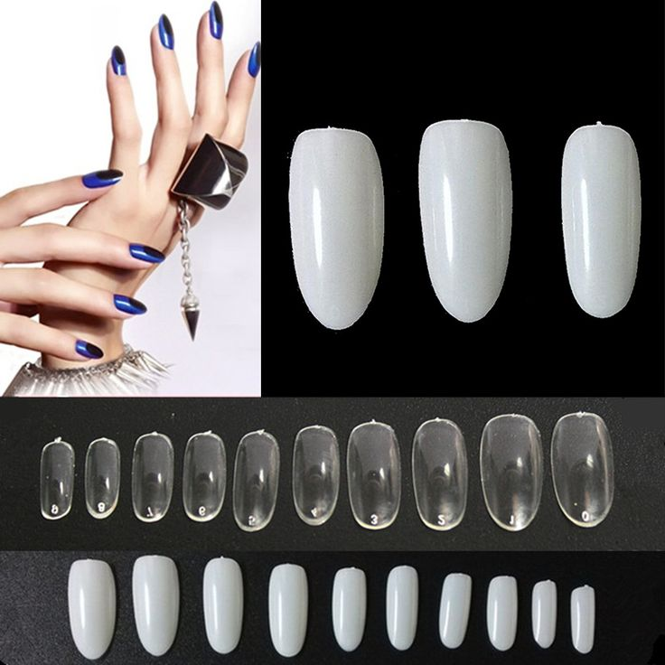 500 PCS French Fake Nails Artificial Full False Nail Tips UV/Acrylic Oval Shaped Fake False Nails Wholesale Fake Nail Tips