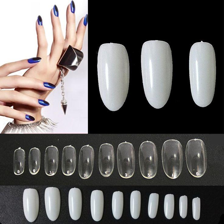 500 STÜCKE Französisch Gefälschte Nägel Künstliche Voller Falsch Nagelspitzen UV/Acryl Ovale Gefälschte Falsche Nägel Großhandel Gefälschte Nagelspitzen