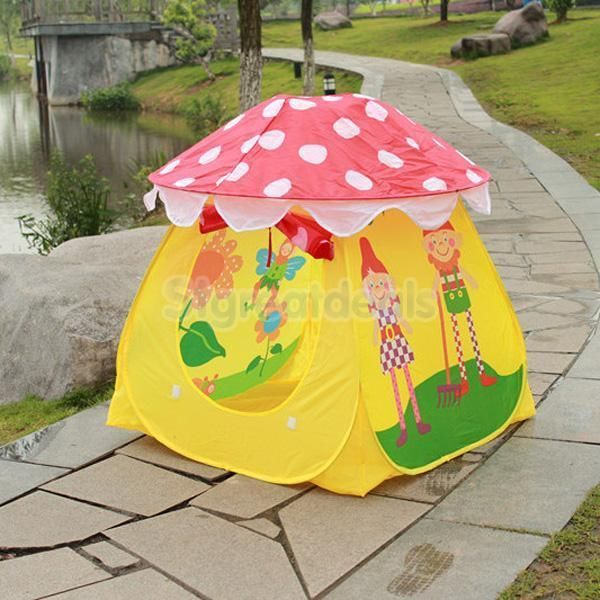 Children Kids Baby Mushroom Playhouse Play Tent House Indoor Outdoor & 39 best Tipi Wigwam Tent Hideouts images on Pinterest | Tents ...